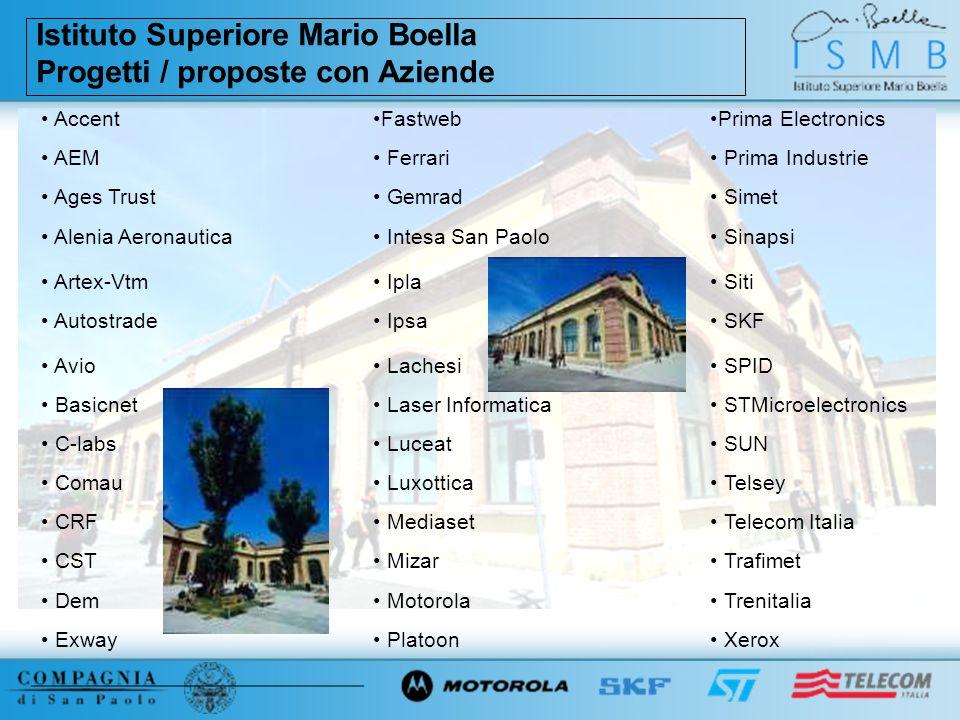 Istituto Superiore Mario Boella Progetti / proposte con Aziende