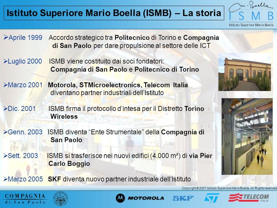 Istituto Superiore Mario Boella (ISMB) – La storia