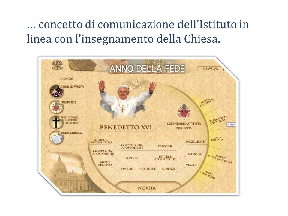 … concetto di comunicazione dell'Istituto in linea con l'insegnamento della Chiesa.