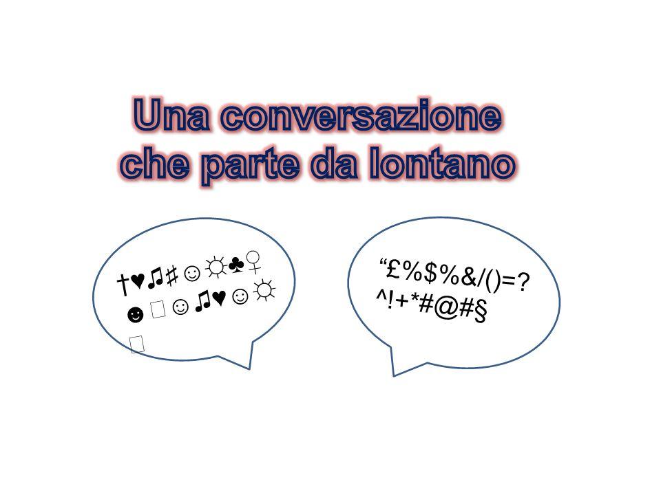 Una conversazione che parte da lontano