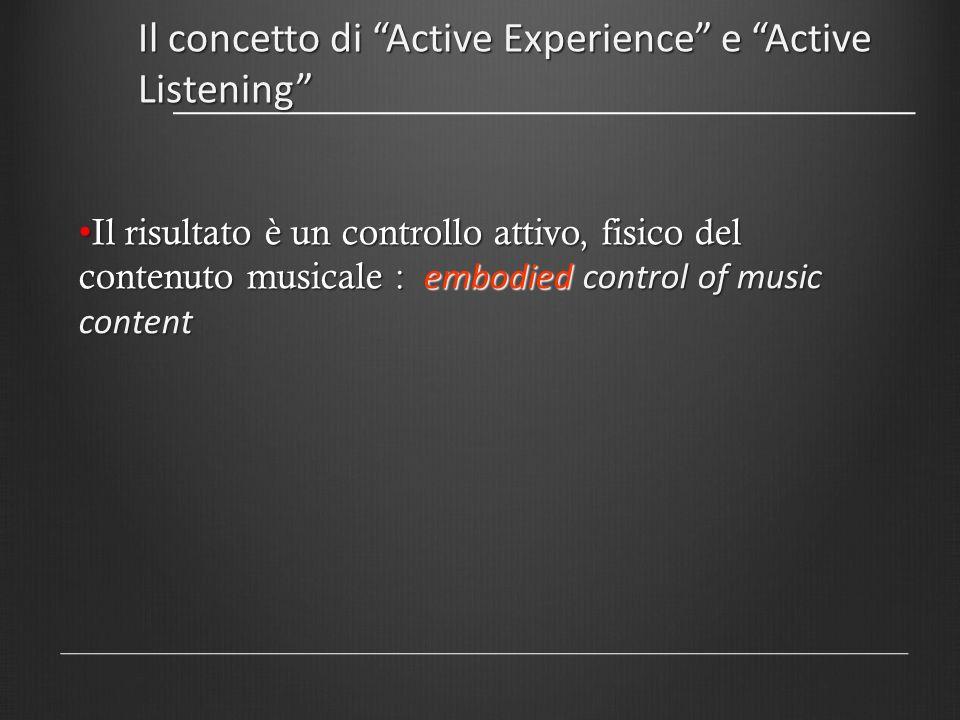 Il concetto di Active Experience e Active Listening