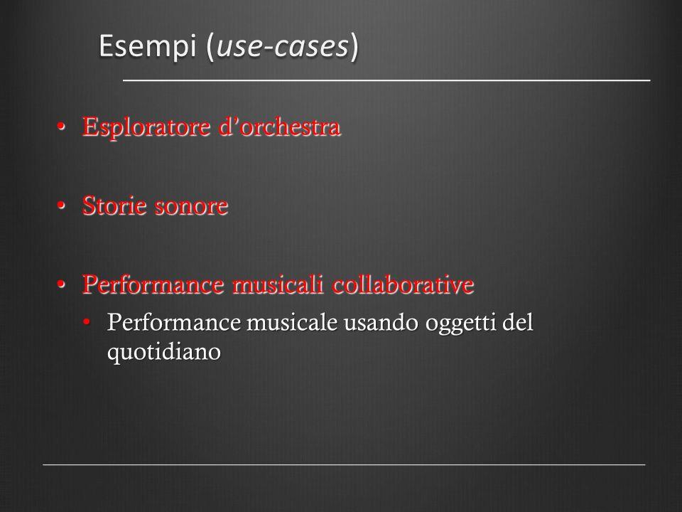 Esempi (use-cases) Esploratore d'orchestra Storie sonore