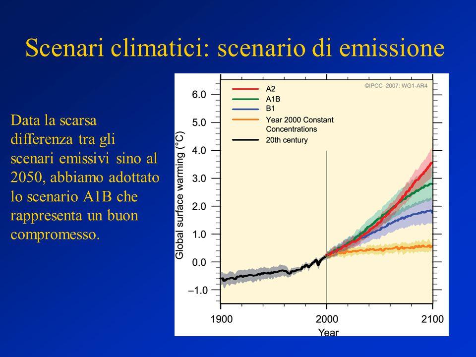 Scenari climatici: scenario di emissione