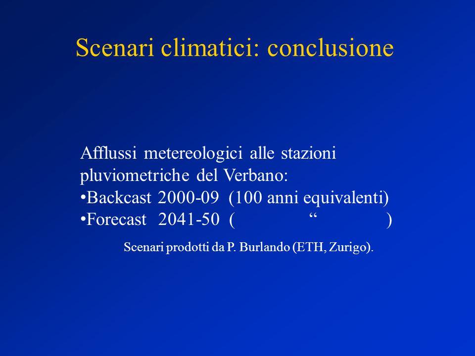 Scenari climatici: conclusione