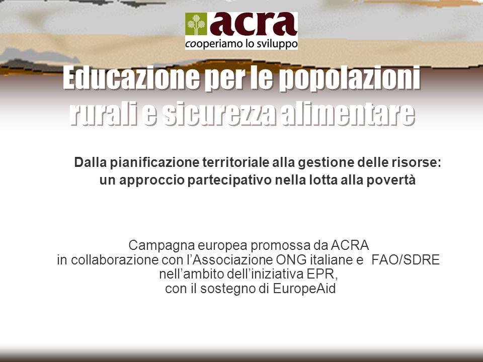 Educazione per le popolazioni rurali e sicurezza alimentare