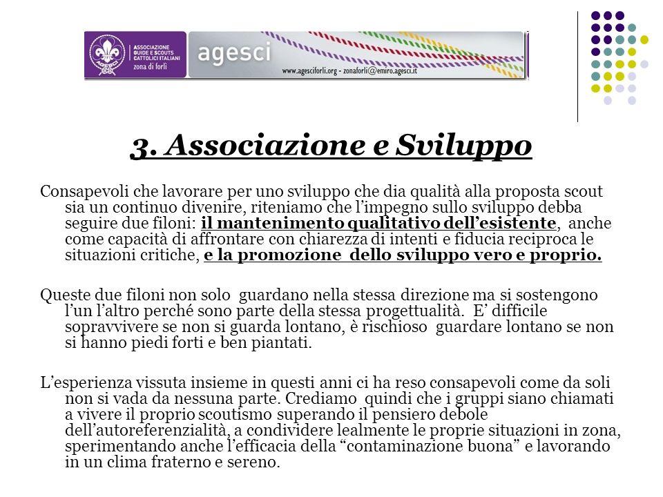 3. Associazione e Sviluppo