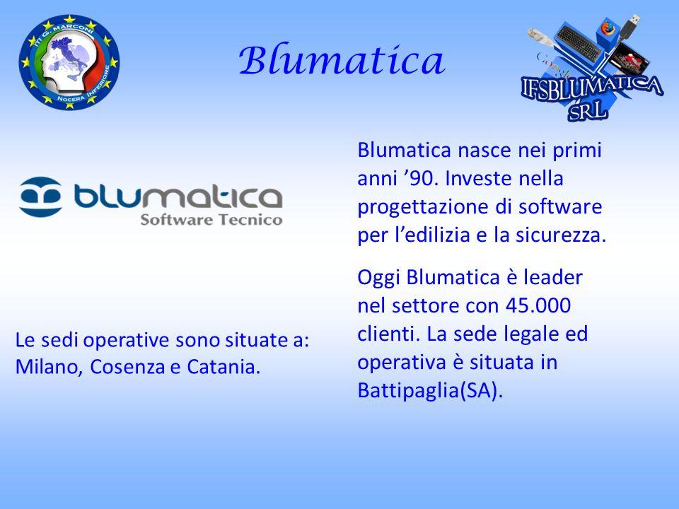 Blumatica Blumatica nasce nei primi anni '90. Investe nella progettazione di software per l'edilizia e la sicurezza.