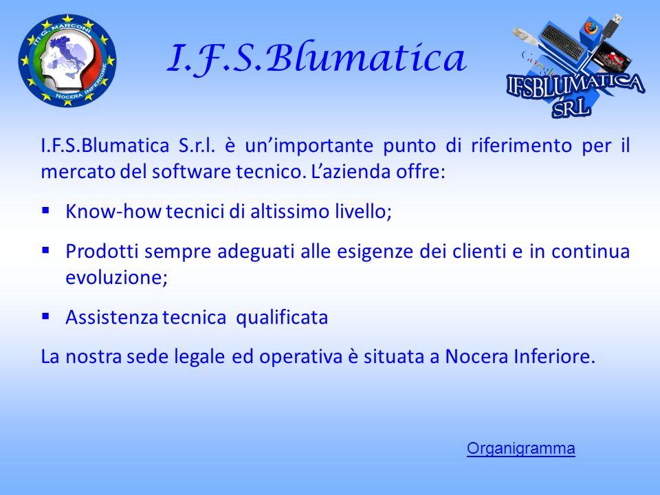 I.F.S.Blumatica I.F.S.Blumatica S.r.l. è un'importante punto di riferimento per il mercato del software tecnico. L'azienda offre: