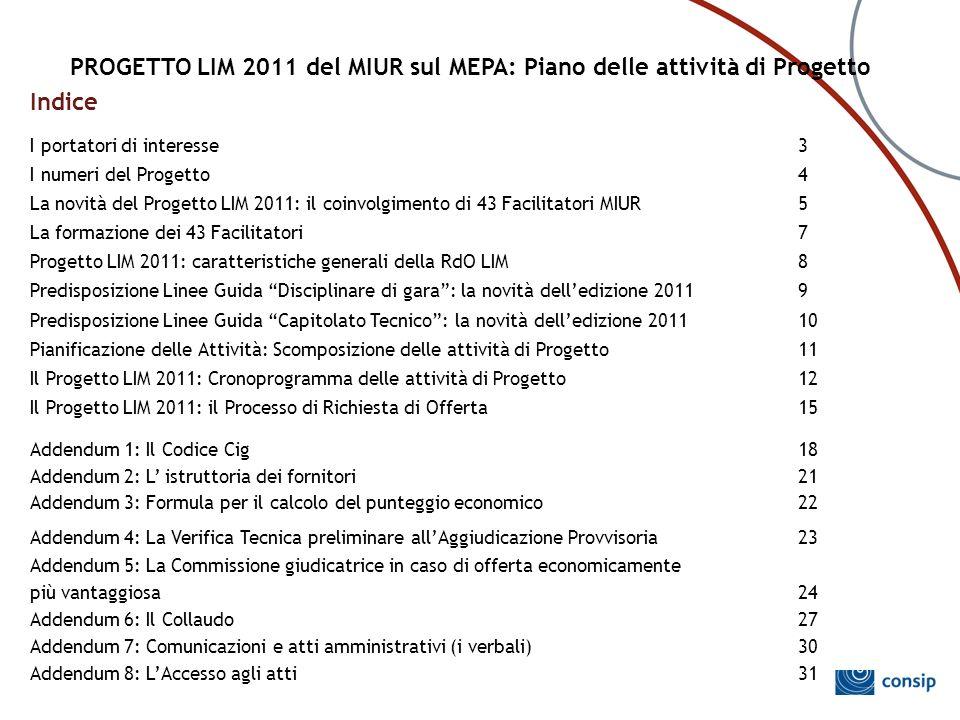 PROGETTO LIM 2011 del MIUR sul MEPA: Piano delle attività di Progetto