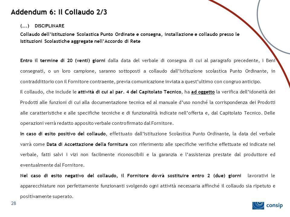 Addendum 6: Il Collaudo 2/3