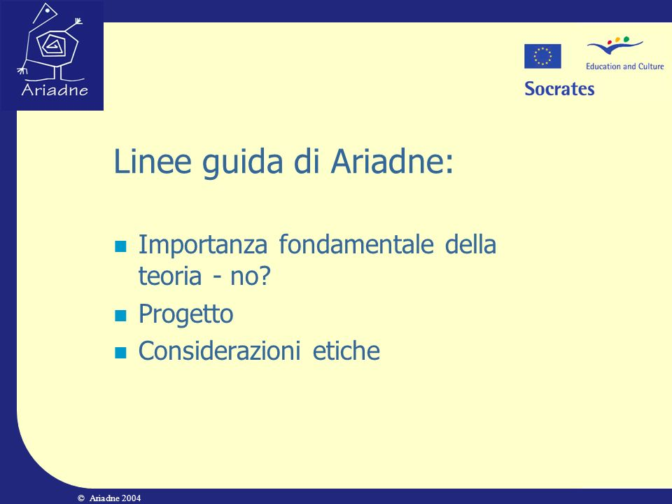 Linee guida di Ariadne: