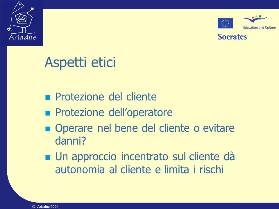 Aspetti etici Protezione del cliente Protezione dell'operatore