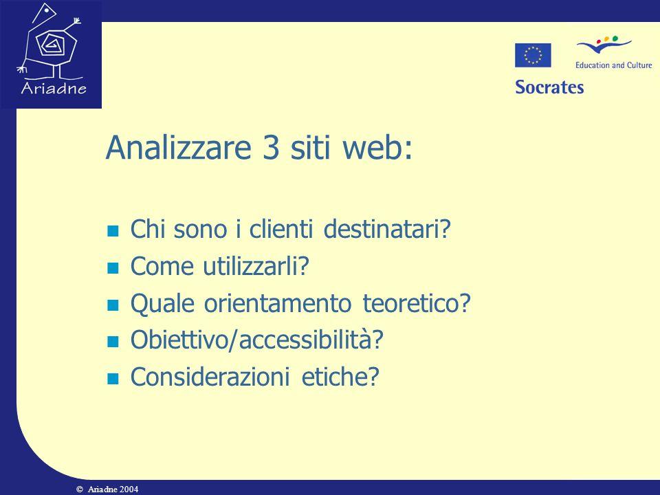 Analizzare 3 siti web: Chi sono i clienti destinatari