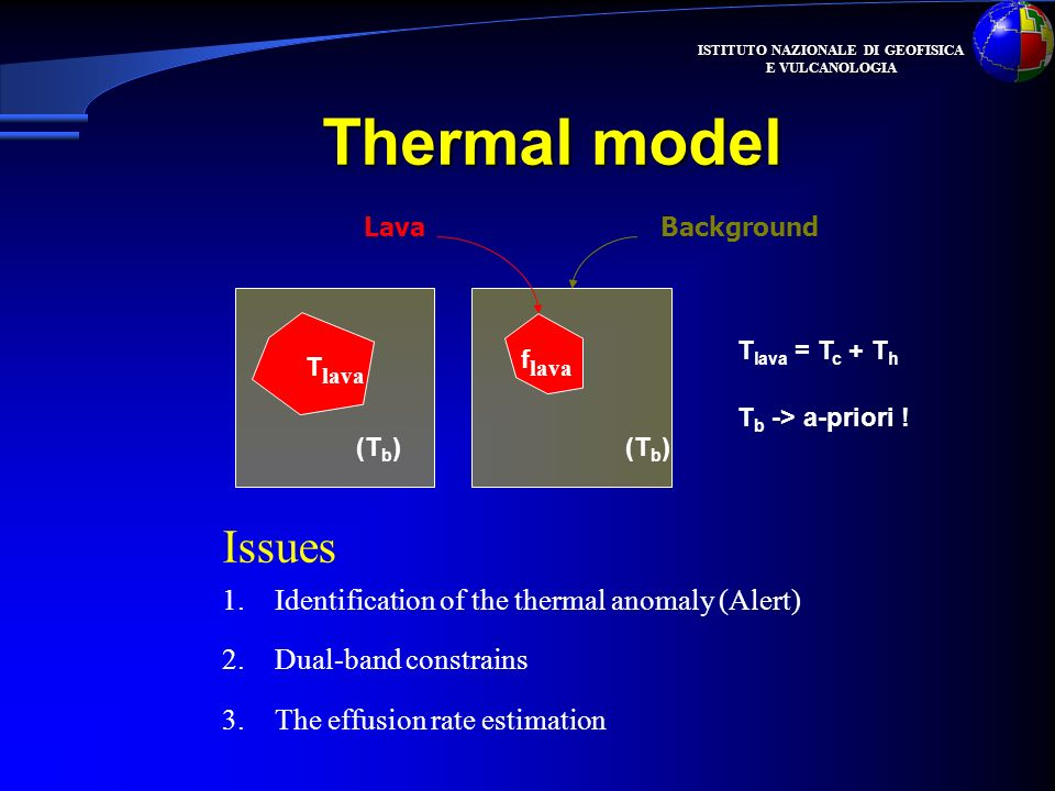 Thermal model Issues Identification of the thermal anomaly (Alert)