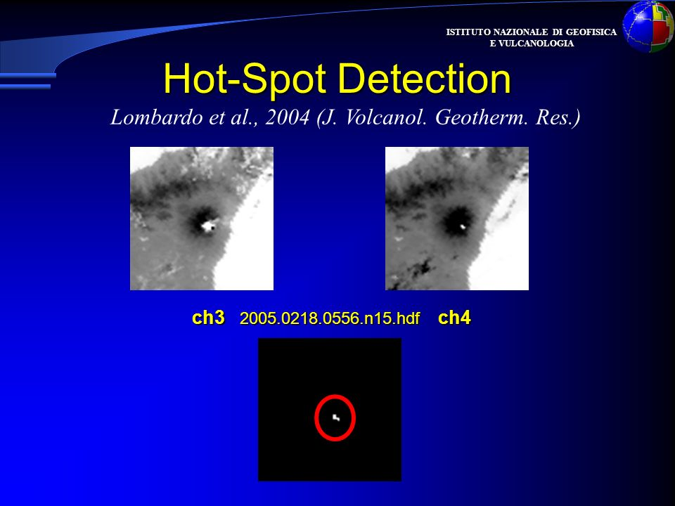 Hot-Spot Detection Lombardo et al., 2004 (J. Volcanol. Geotherm. Res.)