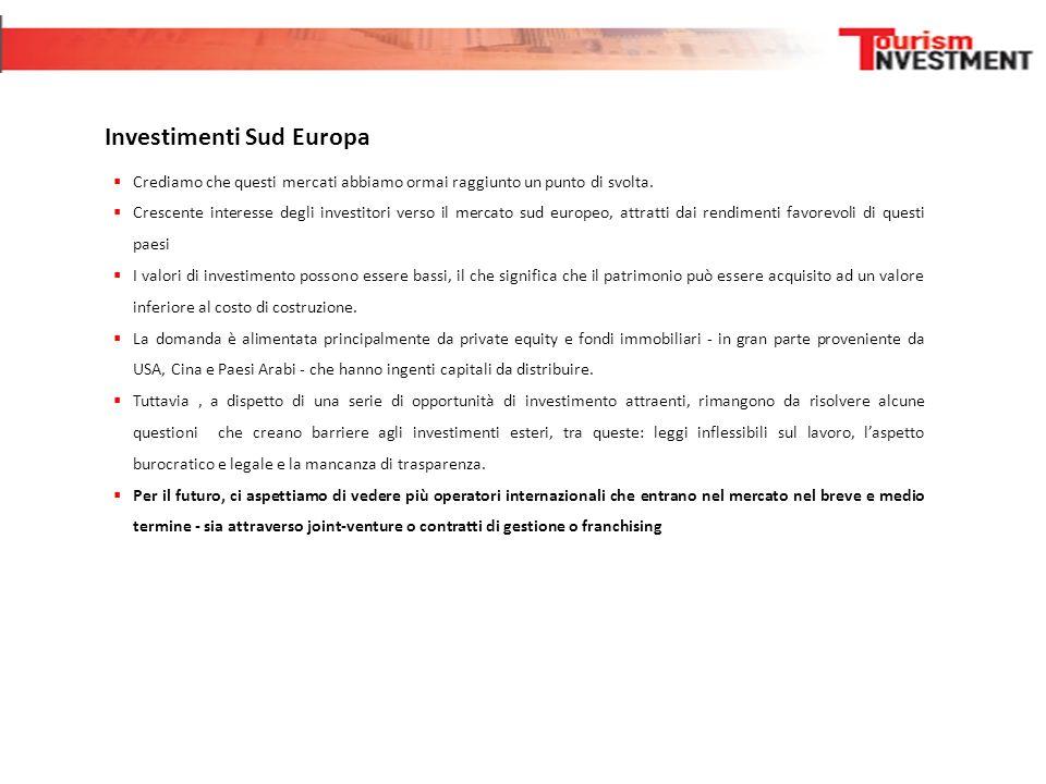 Investimenti Sud Europa