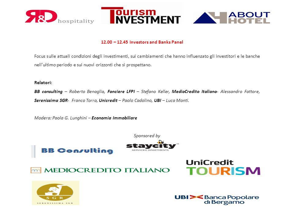 12.00 – 12.45 Investors and Banks Panel