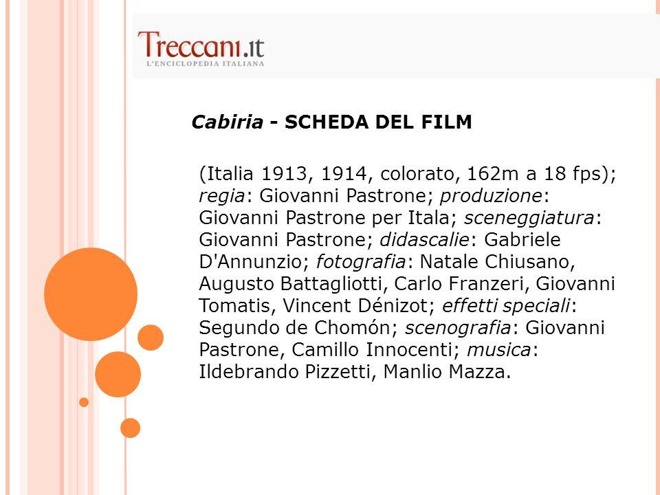 Cabiria - SCHEDA DEL FILM