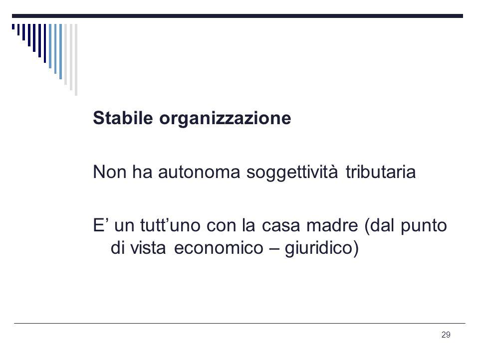 Stabile organizzazione