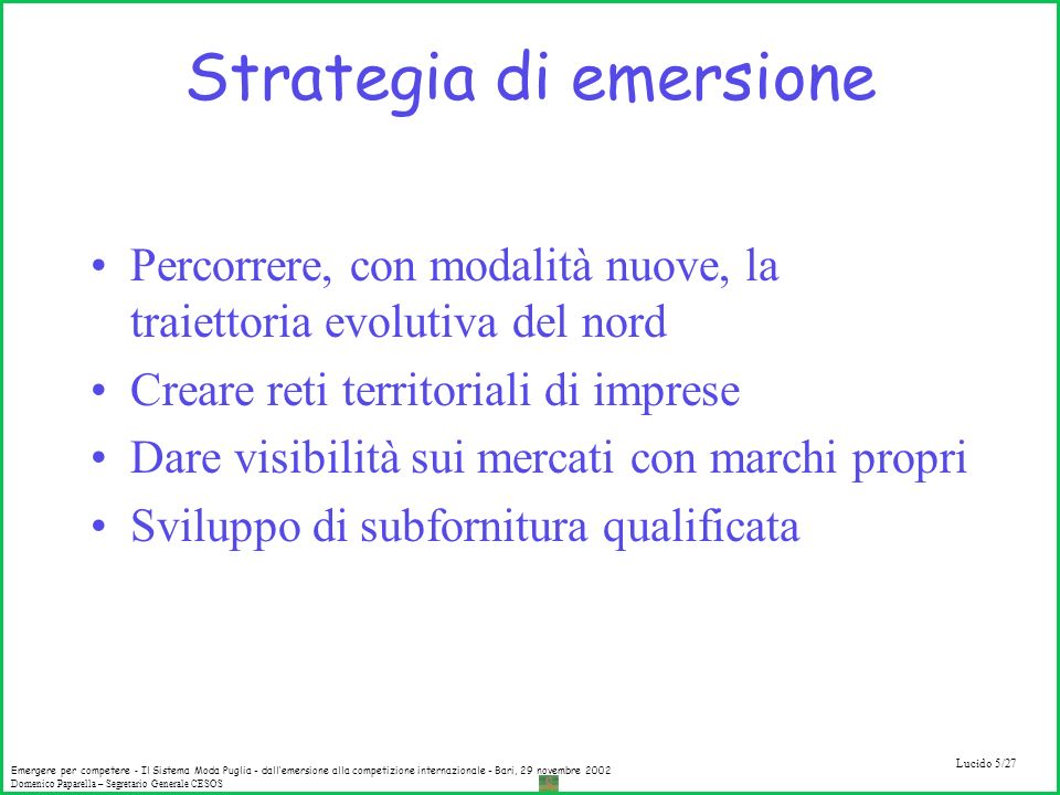 Strategia di emersione