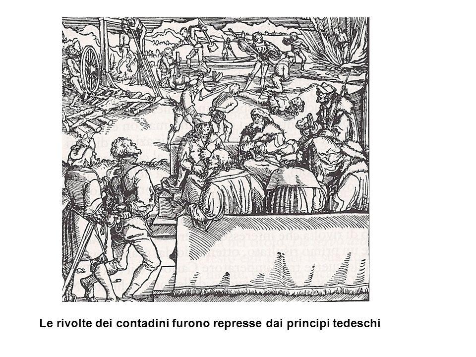 Le rivolte dei contadini furono represse dai principi tedeschi