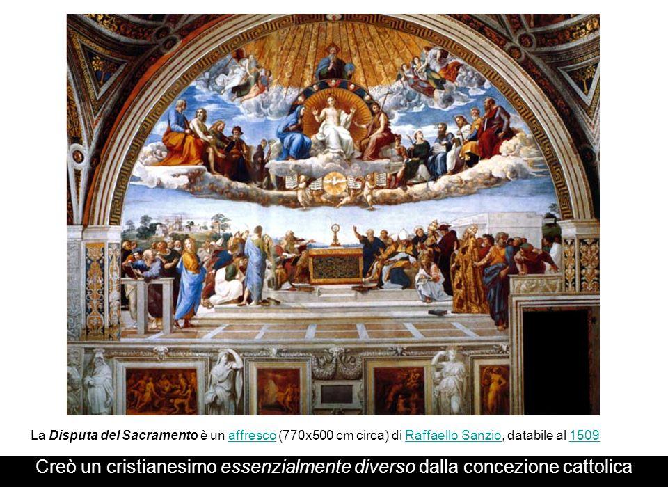 La Disputa del Sacramento è un affresco (770x500 cm circa) di Raffaello Sanzio, databile al 1509