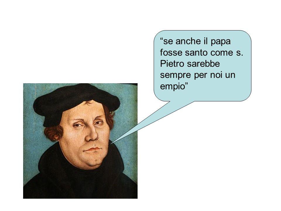 se anche il papa fosse santo come s