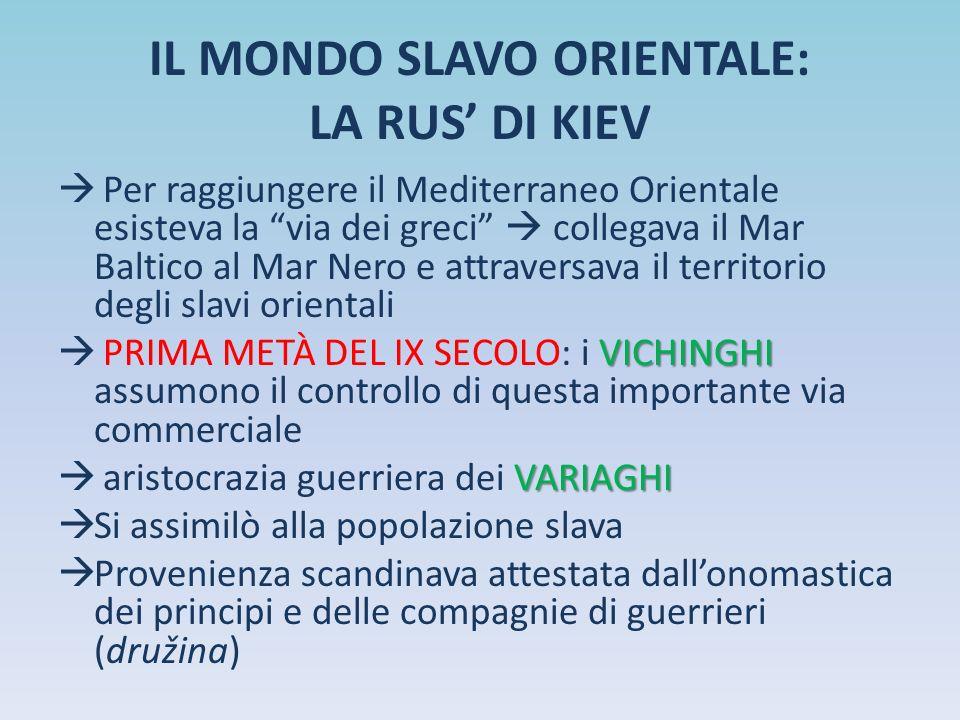 IL MONDO SLAVO ORIENTALE: LA RUS' DI KIEV