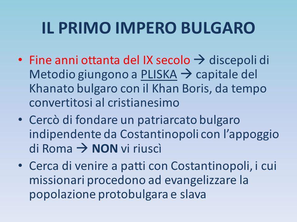 IL PRIMO IMPERO BULGARO