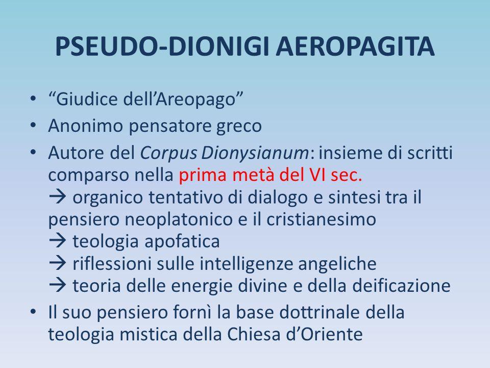 PSEUDO-DIONIGI AEROPAGITA