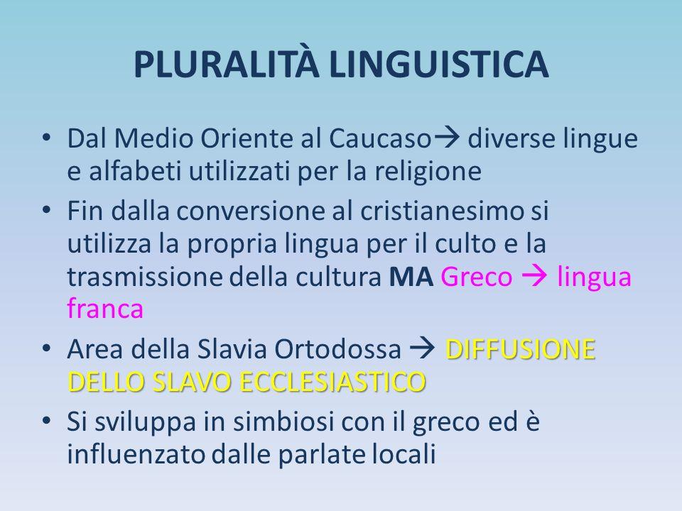 PLURALITÀ LINGUISTICA