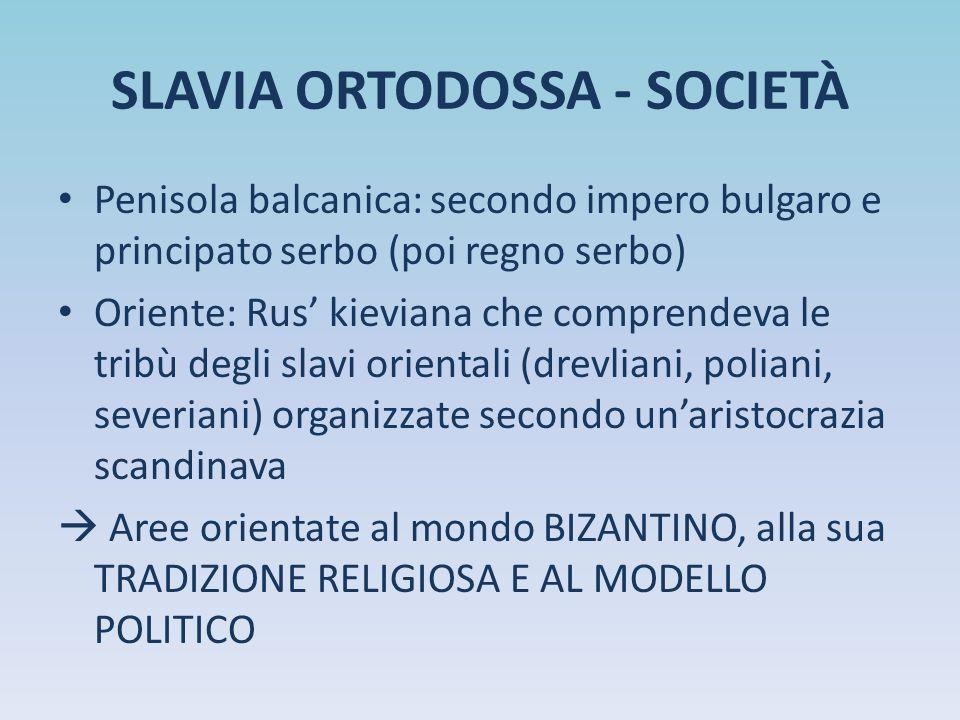 SLAVIA ORTODOSSA - SOCIETÀ