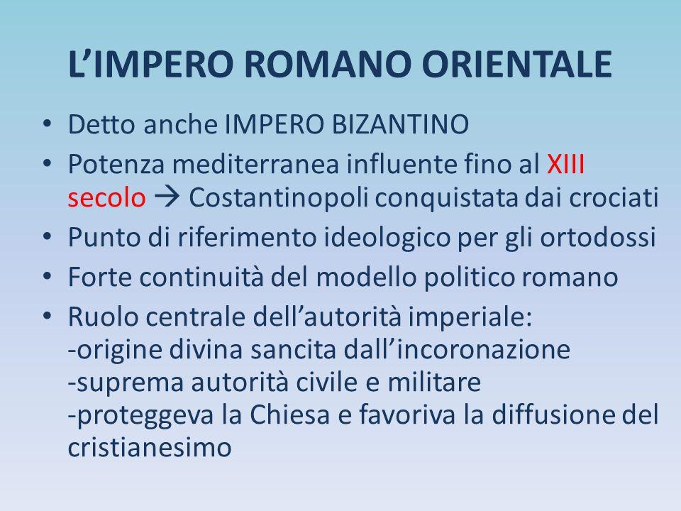 L'IMPERO ROMANO ORIENTALE