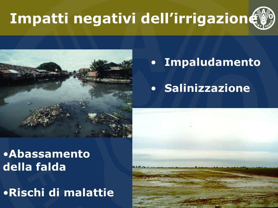 Impatti negativi dell'irrigazione