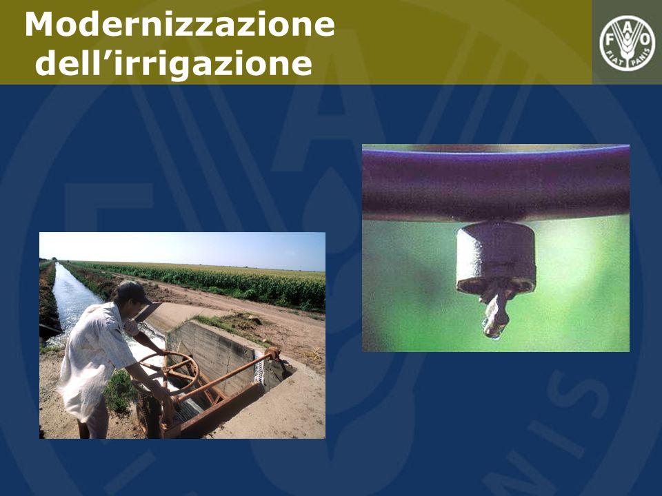 Modernizzazione dell'irrigazione