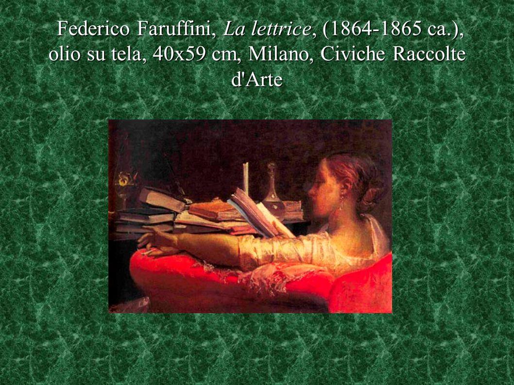 Federico Faruffini, La lettrice, (1864-1865 ca