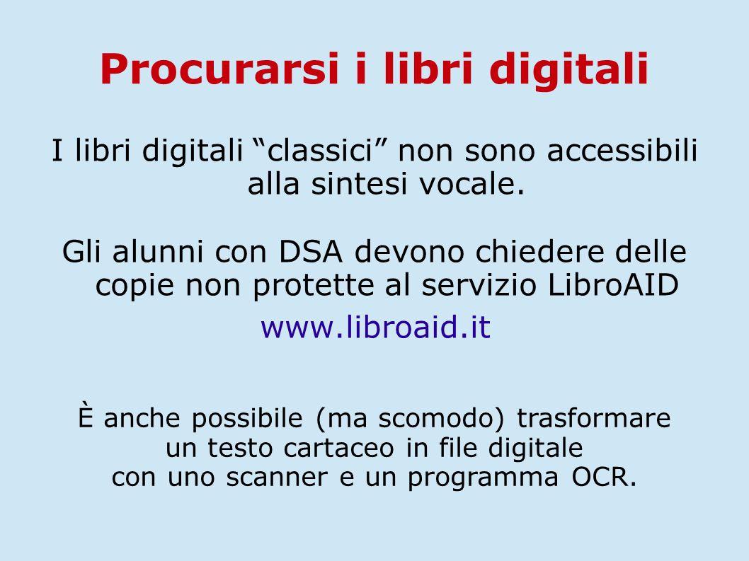 Procurarsi i libri digitali
