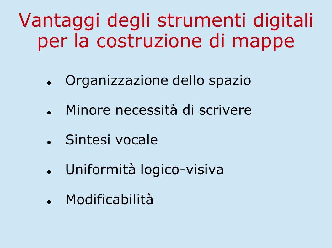 Vantaggi degli strumenti digitali per la costruzione di mappe
