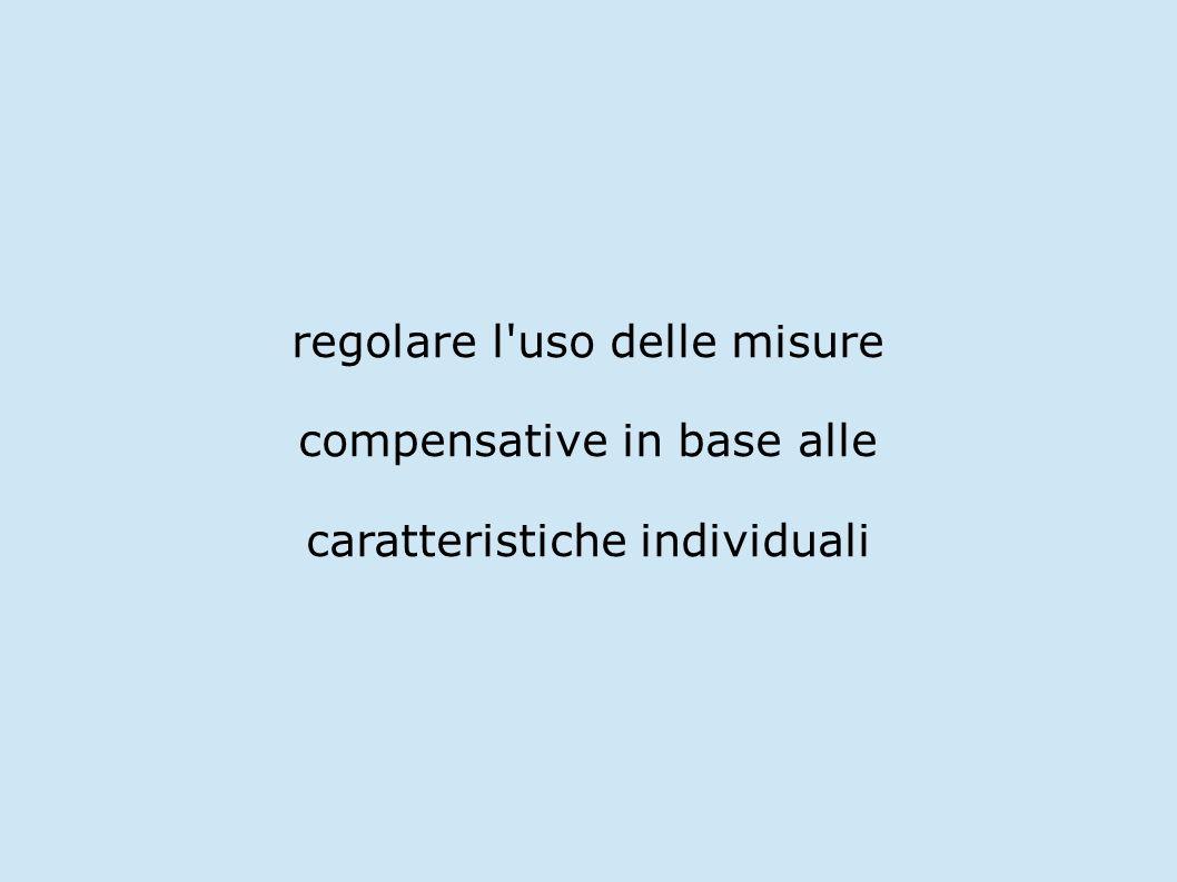 regolare l uso delle misure compensative in base alle
