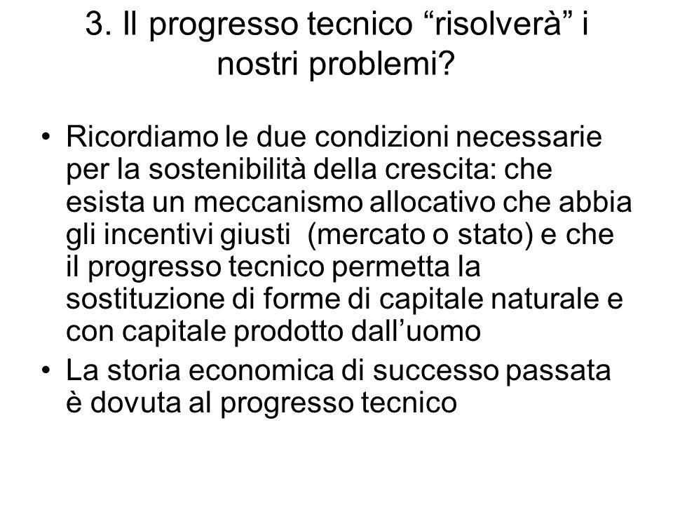 3. Il progresso tecnico risolverà i nostri problemi