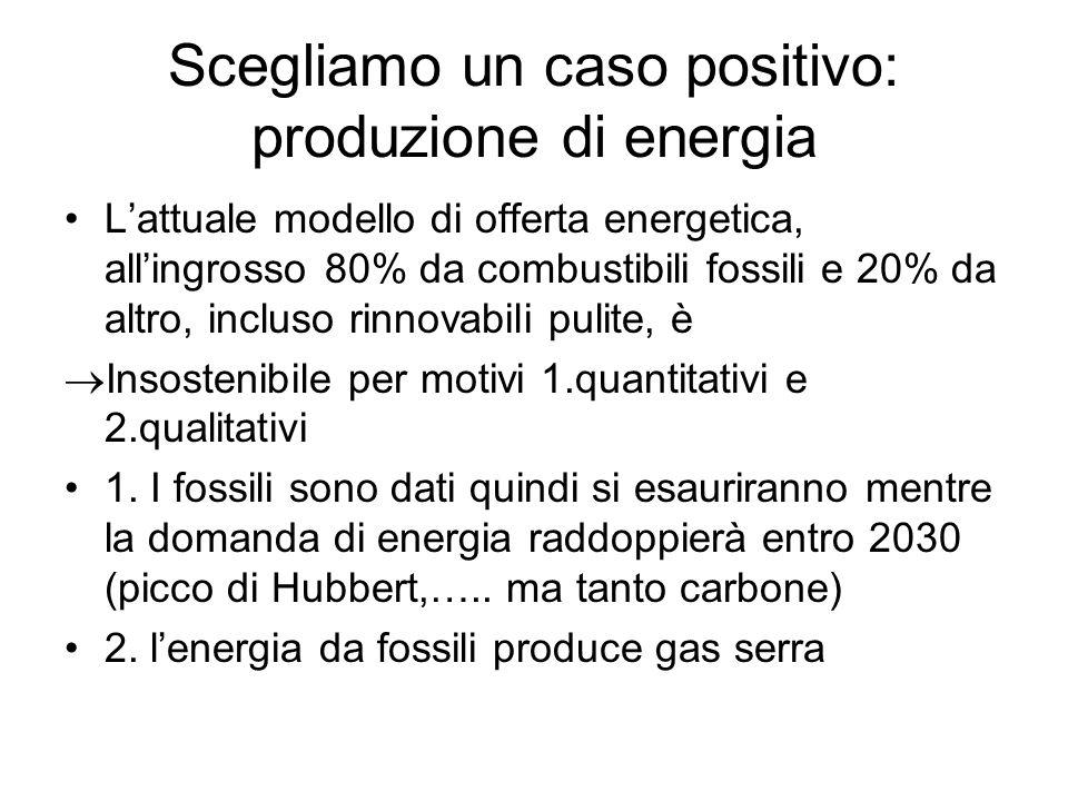 Scegliamo un caso positivo: produzione di energia