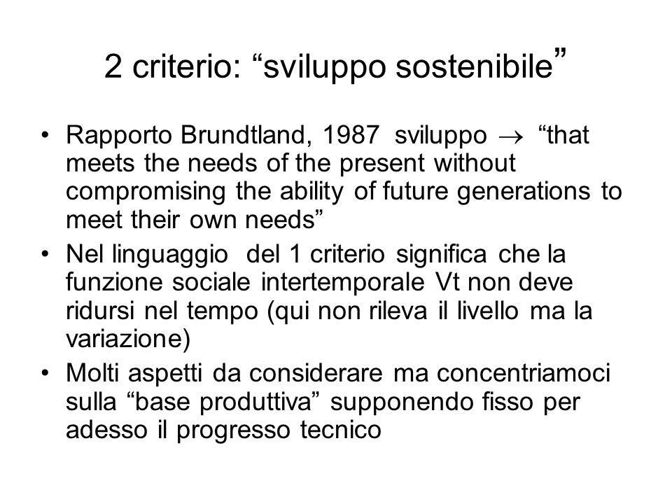 2 criterio: sviluppo sostenibile