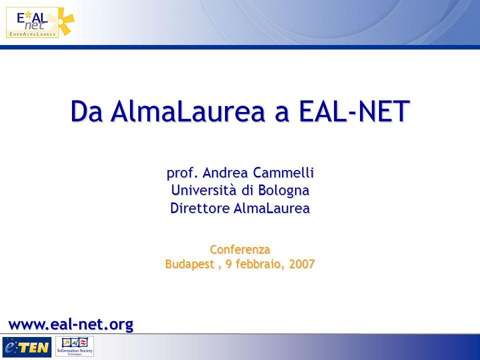 Da AlmaLaurea a EAL-NET prof