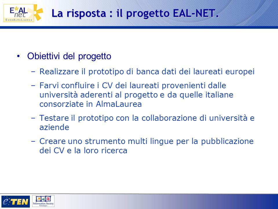 La risposta : il progetto EAL-NET.