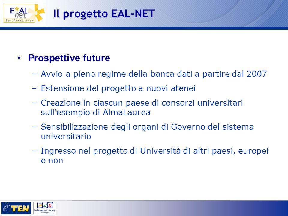 Il progetto EAL-NET Prospettive future