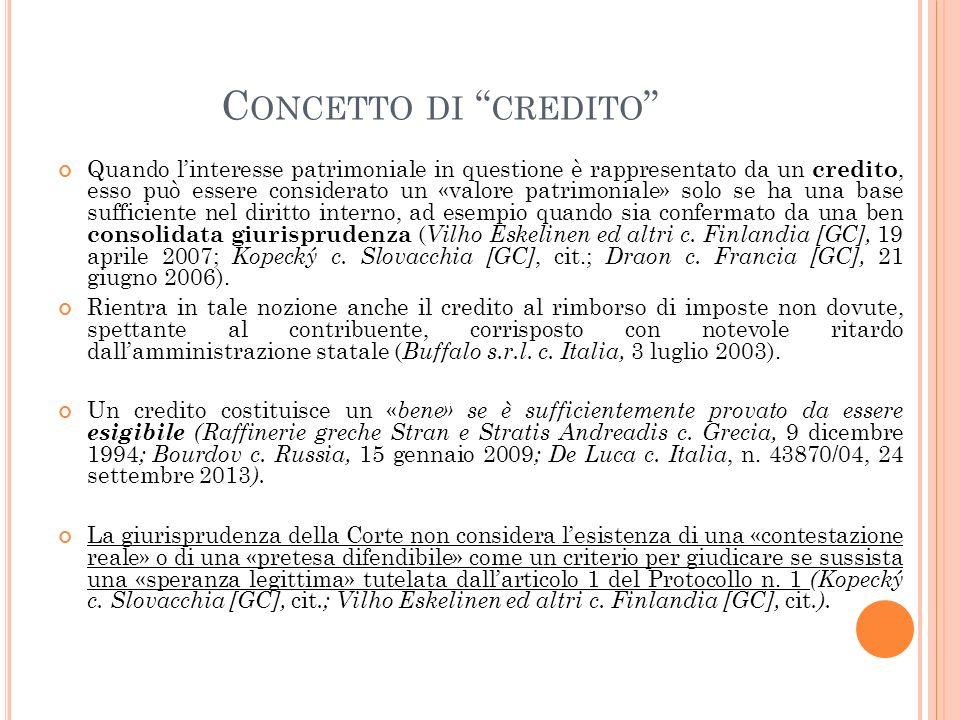 Concetto di credito