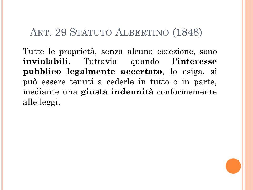 Art. 29 Statuto Albertino (1848)