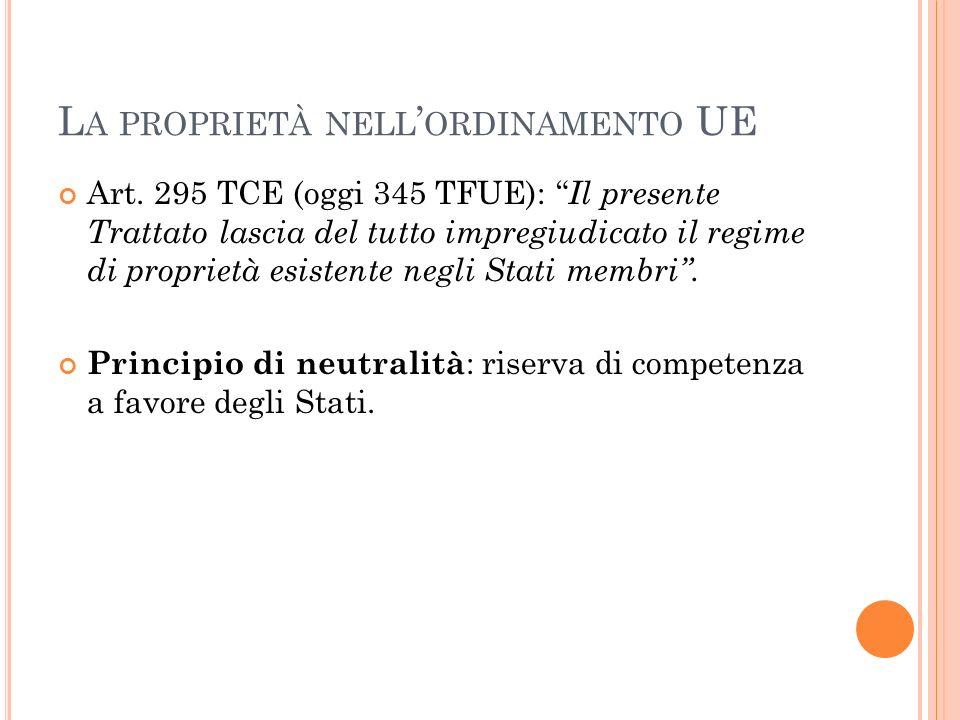 La proprietà nell'ordinamento UE