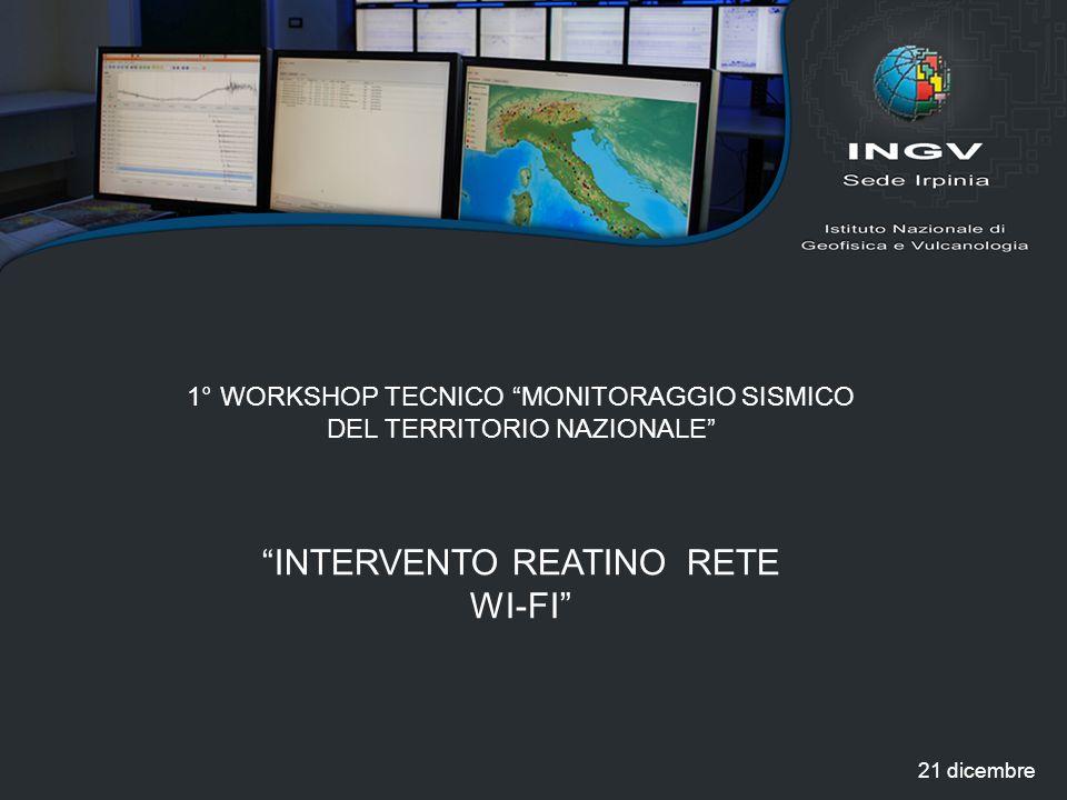 INTERVENTO REATINO RETE WI-FI
