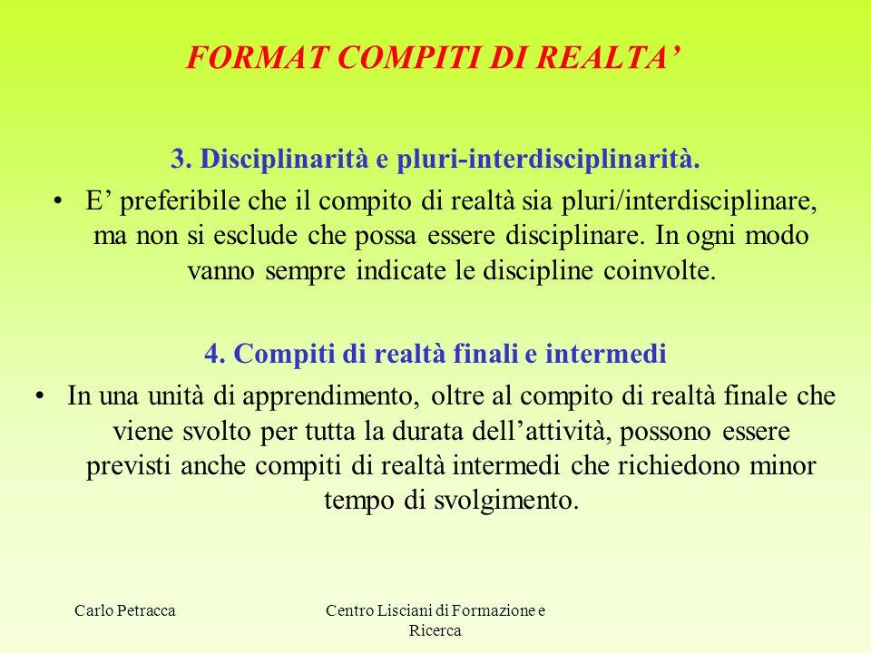 FORMAT COMPITI DI REALTA'